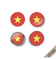 set vietnam flags round badges vector image