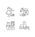 shopping mall products pixel perfect linear icons vector image vector image