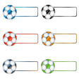 Six multi-colored balls vector image vector image