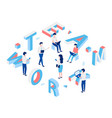 team work isometric concept vector image