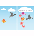 unite together is better vector image vector image