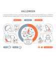 website banner and landing page halloween vector image vector image
