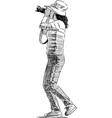 woman shooting vector image vector image