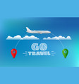 world travelling concept travel banner vector image vector image