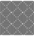 Design seamless monochrome labyrinth pattern vector image