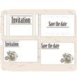 Vintage invitation cards set vector image