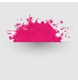 Abstract background with pink paint splashes vector image