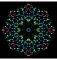 Abstract Geometric Bright Kaleidoscope Pattern vector image vector image