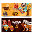 African Ethnic Tribal Masks Banners vector image vector image