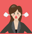 angry business woman vector image