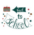back to school poster for education needs vector image