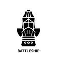 battleship icon black sign with editable