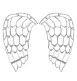 bird or angel wings vector image