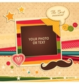 Birthday photo frame vector image vector image