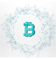 blue network connection bitcoin cryptocurrency vec vector image vector image