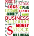 business word collage vector image vector image