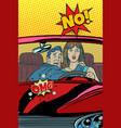 car accident on the road omg no man and woman vector image