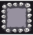 Cartoon Skulls Square Frame vector image vector image