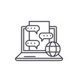 chat messenger line icon concept chat messenger vector image vector image