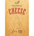 Cheese Poster Kraft vector image