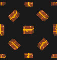 chest seamless pattern vector image vector image