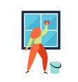 cleaning company service flat isolated vector image