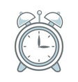 clock alarm back to school symbol vector image