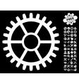 Clock Wheel Icon with Tools Bonus vector image