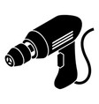 corded drill icon simple style vector image vector image
