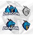Creative dragon logo concept Sport mascot design vector image vector image