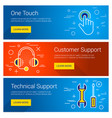customer support one touch technical support line vector image vector image