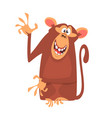 cute cartoon monkey character vector image vector image