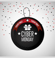 cyber monday emblem with balloons decoration vector image