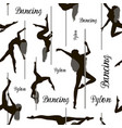 dancing on the pylon pattern vector image vector image