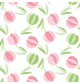 decorative tulip flower seamless pattern geometric vector image vector image
