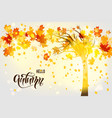 fall tree background vector image vector image