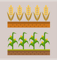 farm harvesting field agriculture vector image