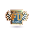 Football Badge vector image vector image