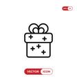 gift box icon presentsurprise symbol vector image vector image