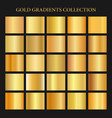 golden gradients collection background gold metal vector image vector image
