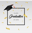 graduating class of 2018 - template for card vector image vector image