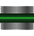 green light line technology in metal circle mesh vector image vector image