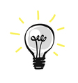 Hand drawn light bulb vector image vector image