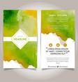 hand drawn watercolor brochure template design vector image