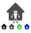 home robot flat icon vector image