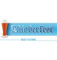 horizontal banner for beer festival oktoberfest vector image vector image