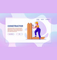 house repair and renovation flat vector image vector image