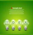 idea light bulb on the background vector image vector image