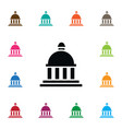 isolated bank icon court element can be vector image vector image