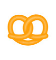 isolated pretzel icon vector image